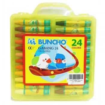 Buncho Gabang Oil Pastels - 24 Colors