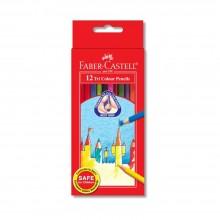 Faber Castell Tri-Grip 12 Long Color Pencils (115833)
