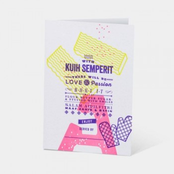 Letterpress Card - Kuih Semperit - Hari Raya Aidilfitri