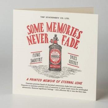 Letterpress Card - Love - Some Memories Never Fade