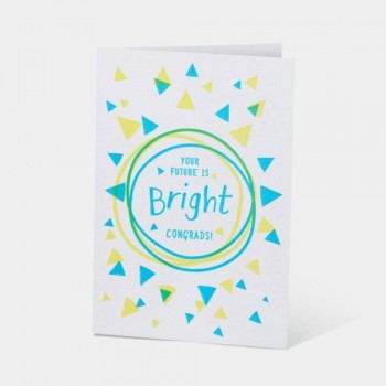 Letterpress Card - Your Future Is Bright