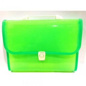 8702 Expanding File Green