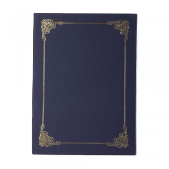 Hard Cover Certificate Holder - Blue