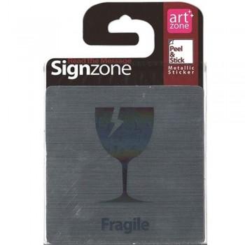 Signzone Peel & Stick Metallic Sticker - Fragile (Item No: R01-35)