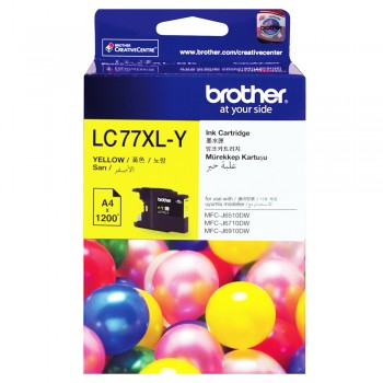 Brother LC-77XL Yellow Ink Cartridge