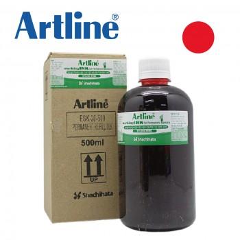 Artline ESK20 Permanent Marker Refill Ink 500ML - Red