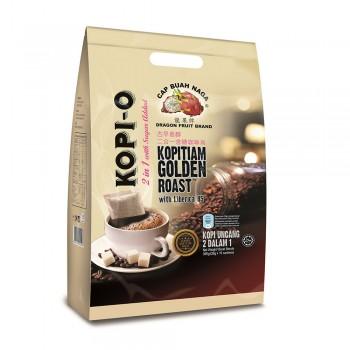 Dragon Fruit Brand - Kopi O 2 IN 1 Kopitiam Golden Roast 26g x 15 sticks