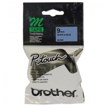Brother M-K521 Black on Blue 9mm Tape