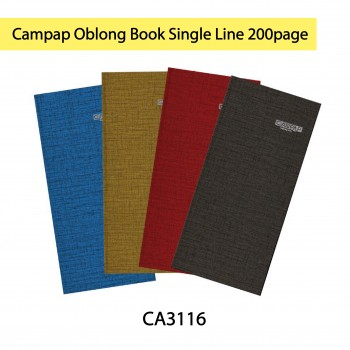 Campap Oblong Book Single Line 200page (CA3116)
