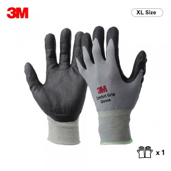 3M Comfort Grip Glove General Use - Gray (XL Size)