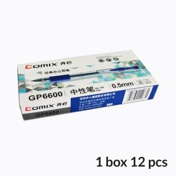 Comix Gel-Ink Pen 0.5mm - Blue (Box of 12 pcs)