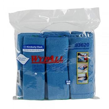 WYPALL Microfibre Cloths - Blue x 6's/Pack