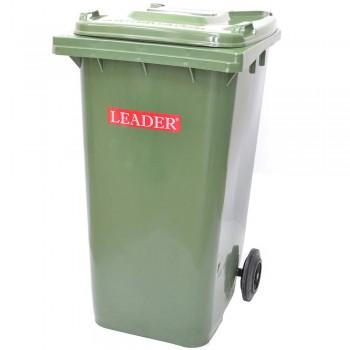 LEADER Mobile Garbage Bins BP 120 Green