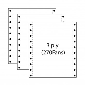 """Computer Form 9.5"""" x 11"""" 3 Ply NCR 270 Fans"""
