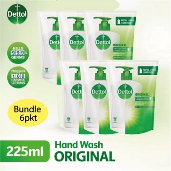 Dettol Hand Wash Original Refill 225ml Bundle / 6pkt