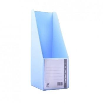 "EAST FILE PVC MAGAZINE BOX 412 4"" Ice Blue"