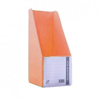"""EAST FILE PVC MAGAZINE BOX 412 4"""" Ice Orange"""