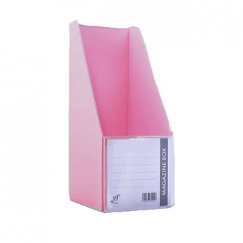 "EAST FILE PVC MAGAZINE BOX 412 4"" Ice Pink"