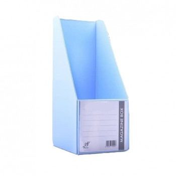 "EAST FILE PVC MAGAZINE BOX 412 5"" Ice Blue"