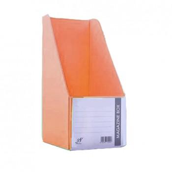 """EAST FILE PVC MAGAZINE BOX 412 5"""" Ice Orange"""