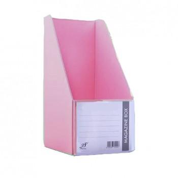 "EAST FILE PVC MAGAZINE BOX 412 5"" Ice Pink"