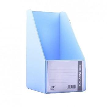 "EAST FILE PVC MAGAZINE BOX 412 6"" Ice Blue"