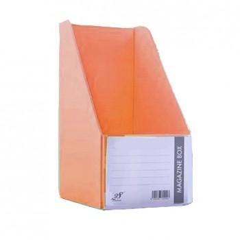 """EAST FILE PVC MAGAZINE BOX 412 6"""" Ice Orange"""