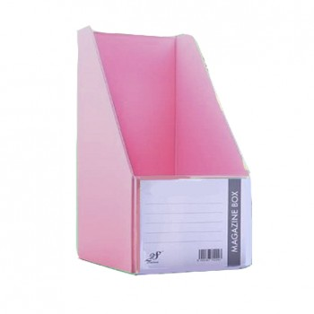 "EAST FILE PVC MAGAZINE BOX 412 6"" Ice Pink"