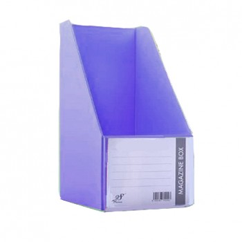 "EAST FILE PVC MAGAZINE BOX 412 6"" Ice Violet"