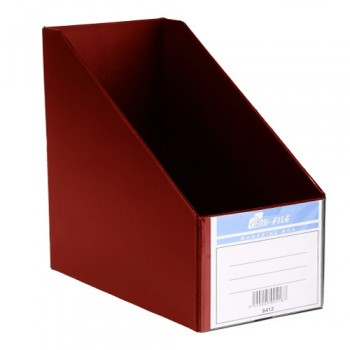 "EAST FILE PVC MAGAZINE BOX 412 6"" Red"