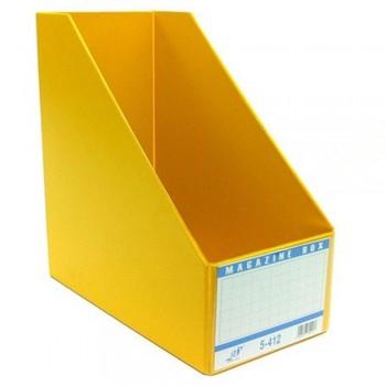 "EAST FILE PVC MAGAZINE BOX 412 6"" Yellow"