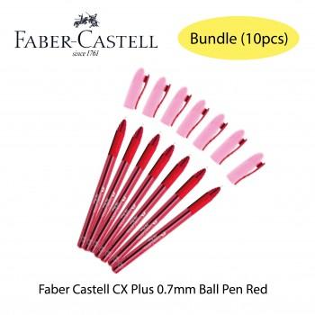 Faber Castell CX Plus 0.7mm Ball Pen Red Bundle (10pcs)