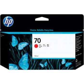 HP 70 DesignJet Ink Cartridge 130-ml - Red  (C9456A)