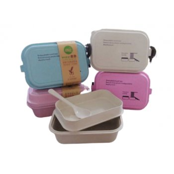 Japanese Style Biodegradable Wheat Lunch Box 2 Layer