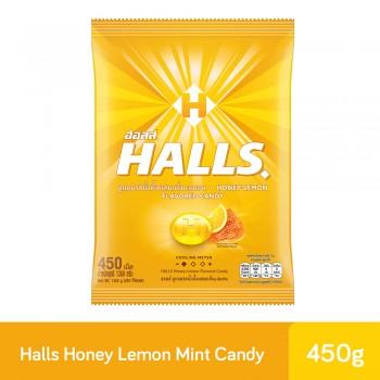 HALLS Honey Lemon Candy Bag 450S