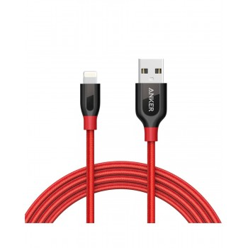 Anker PowerLine+ 6ft Lightning Cable Red (1.8m)