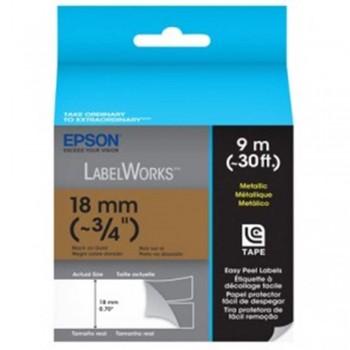 Epson 18mm x 8m Blk on Gold Tape C53S655507 ( Item No: EPS LK-5KBM )