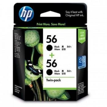 HP 56 2-pack Black Inkjet Print Cartridges (Item No: HP CC620AA)