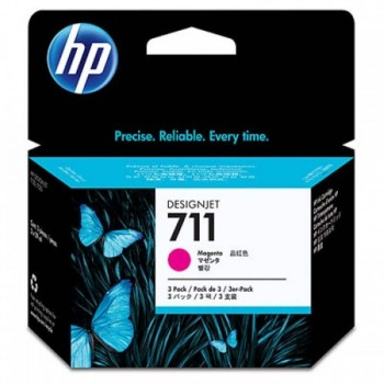 HP 711 3-pack 29-ml Magenta Ink Cartridges (CZ135A)