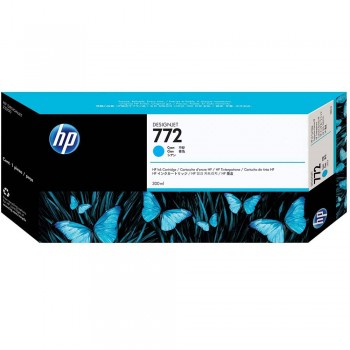 HP 772 DesignJet Ink Cartridge 300-ml - Cyan (CN636A)