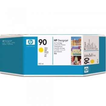 HP 90 DesignJet Ink Cartridge (3-pack) 400-ml - Yellow (C5085A)