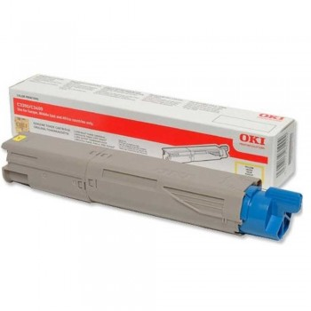 OKI C3300 Yellow Toner Cartridge 43459453 (Item No: OKI C3300Y 1.5K)
