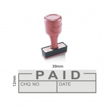 Index Stock Stamp - PAID WITH DATE