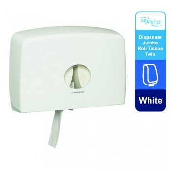 Aquarius® Jumbo Roll Toilet Twin Dispenser 70210 - White