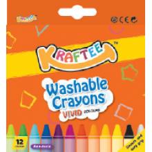 Kraftee 12ct Washable Crayon
