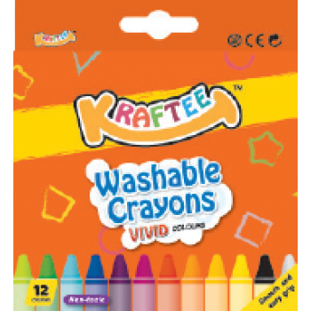 Kraftee 12ct Washable Crayon
