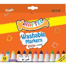 Kraftee 12ct Washable Markers