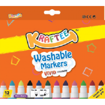 Kraftee 12ct Washable Markers