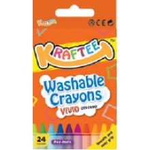 Kraftee 24ct Washable Crayon