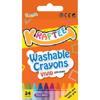 Kraftee 24ct Washable Crayon